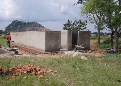 Finished latrines
